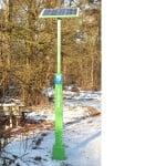 Elektrische fiets opladen aan de ecotap