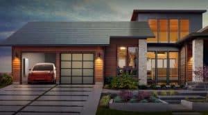 Tesla zonnedak gepresenteerd door Elon Musk